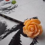 Citrus Coloured Vintage Rose Bobby ..