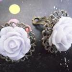 CLIP ON Lavender Mist Filigree Lace..