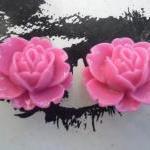 CLIP ON Shocking Pink Fuchsia Vinta..