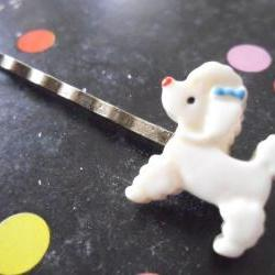 The Petite Parisienne Poodle Bobby Pin - bronze hair clip slide pins grip